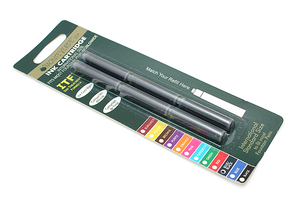 Monteverde Fountain Pen Standard Ink Cartridge - Blue Black - Pack of 6 - MONTEVERDE G302BB