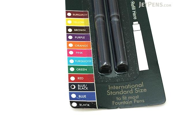 Monteverde Fountain Pen Standard Ink Cartridge - Blue Black - Pack of 6 - MONTEVERDE G302BB