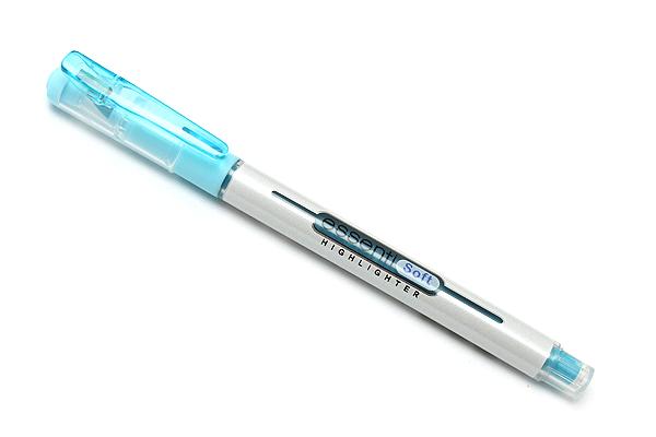 Monami Essenti Soft Highlighter Pen - Pastel Blue - MONAMI ESSENTI SOFT BL