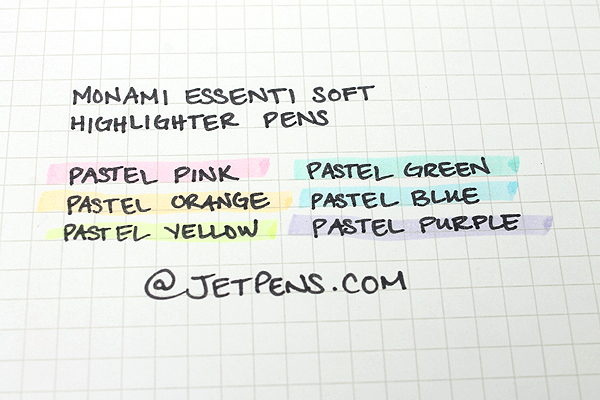 Monami Essenti Soft Highlighter Pen - Pastel Green - MONAMI ESSENTI SOFT GR