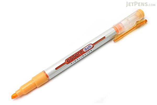 Monami Essenti Soft Highlighter Pen - Pastel Orange - MONAMI ESSENTI SOFT OR