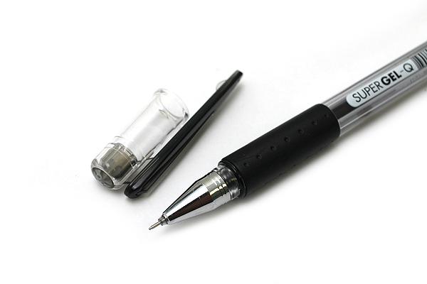 Monami Super Gel-Q Gel Pen - 0.4 mm - Black - MONAMI SUPER GQ 04 BK