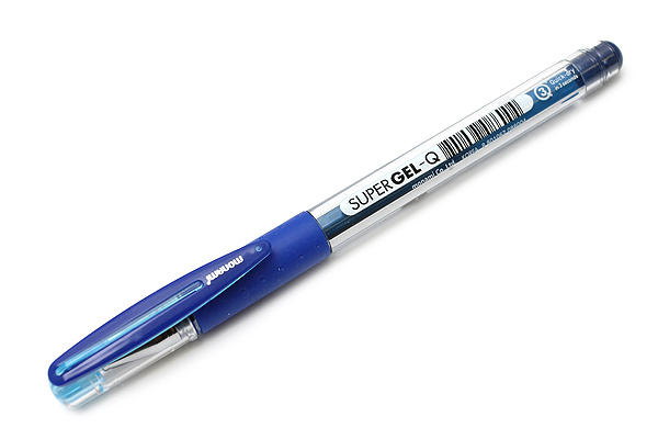Monami Super Gel-Q Gel Pen - 0.4 mm - Blue - MONAMI SUPER GQ 04 BL