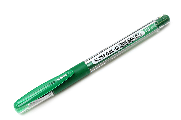 Monami Super Gel-Q Gel Pen - 0.4 mm - Green - MONAMI SUPER GQ 04 GR