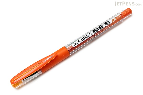 Monami Super Gel-Q Gel Pen - 0.4 mm - Orange - MONAMI SUPER GQ 04 OR