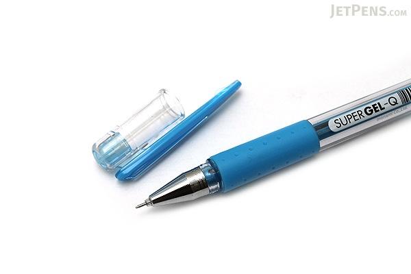 Monami Super Gel-Q Gel Pen - 0.4 mm - Sky Blue - MONAMI SUPER GQ 04 SB