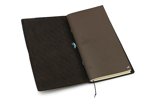 "Pelle Leather Journal - Rustic Saddle - Large + 1 Plain Linen Paper Notebook (4.3"" X 8.3"") Insert - 64 Pages - PELLE LJ L RS"