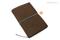 "Pelle Leather Journal - Rustic Saddle - Medium + 1 Plain Linen Paper Notebook (4.3"" X 6.8"") Insert - 64 Pages - PELLE LJ M RS"