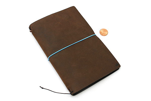 "Pelle Leather Journal - Rustic Saddle - Medium + 1 Plain Linen Paper Notebook (4.3"" X 6.8"") Insert - 64 Pages - PELLE LJ M RS"