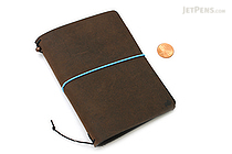 "Pelle Leather Journal - Rustic Saddle - Small + 1 Plain Linen Paper Notebook (3.4"" X 4.9"") Insert - 64 Pages - PELLE LJ S RS"
