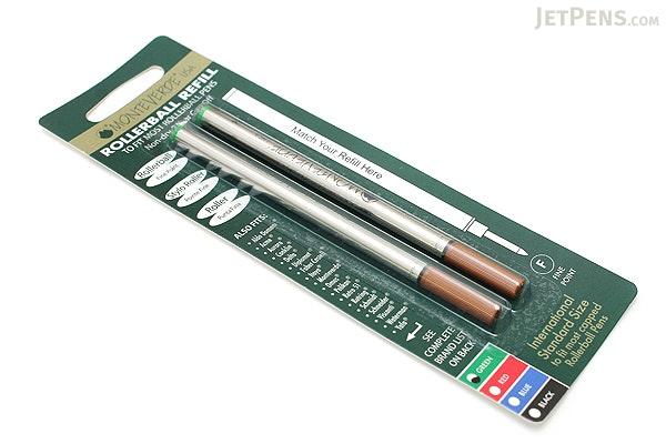 Monteverde Ceramic Rollerball Pen Refill - Green - Pack of 2 - MONTEVERDE W222GN