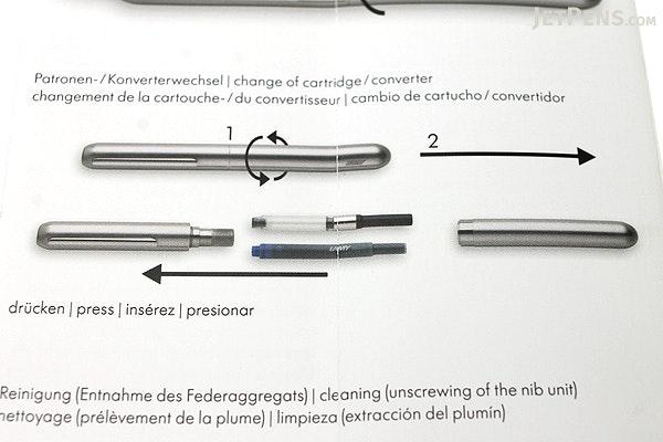 Lamy Dialog 3 Fountain Pen - Black - Fine Nib - LAMY L74BKF