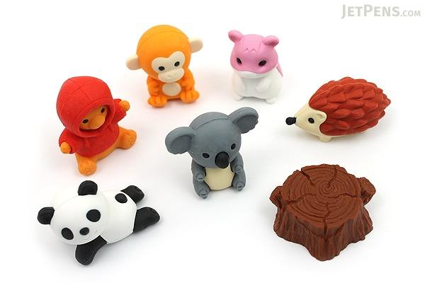 Iwako Forest Animal Novelty Eraser - 7 Piece Set - IWAKO ER-BRI022