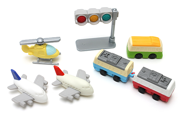 Iwako Vehicle Novelty Eraser - 7 Piece Set - IWAKO ER-BRI021