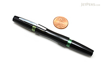 Ohto Rook Ballpoint Pen - 0.7 mm - Black Green Body - Black Ink - OHTO NBP-10RO-BG