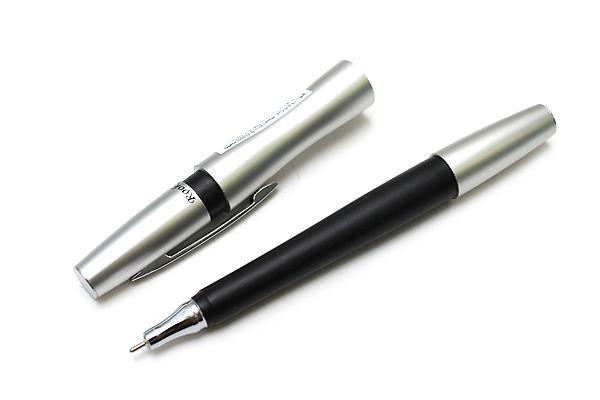 Ohto Rook Ballpoint Pen - 0.7 mm - Silver Black Body - Black Ink - OHTO NBP-10RO-SB