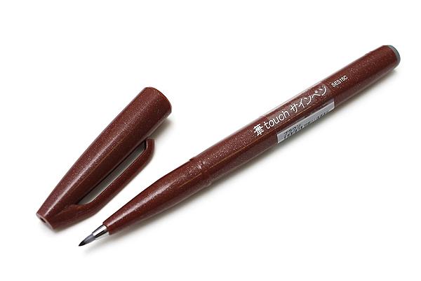 Pentel Fude Touch Sign Pen - Brown - PENTEL SES15C-E