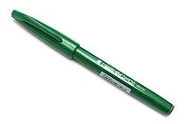Pentel Fude Touch Sign Pen - Green - PENTEL SES15C-D