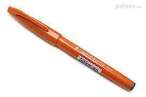Pentel Fude Touch Brush Sign Pen - Orange - PENTEL SES15C-F