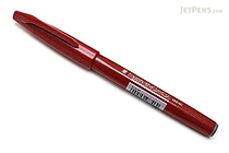 Pentel Fude Touch Brush Sign Pen - Red - PENTEL SES15C-B