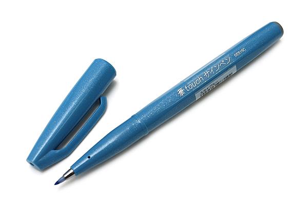 Pentel Fude Touch Sign Pen - Sky Blue - PENTEL SES15C-S