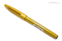 Pentel Fude Touch Brush Sign Pen - Yellow - PENTEL SES15C-G