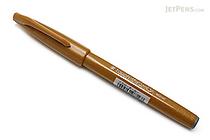 Pentel Fude Touch Brush Sign Pen - Yellow Ochre - PENTEL SES15C-Y