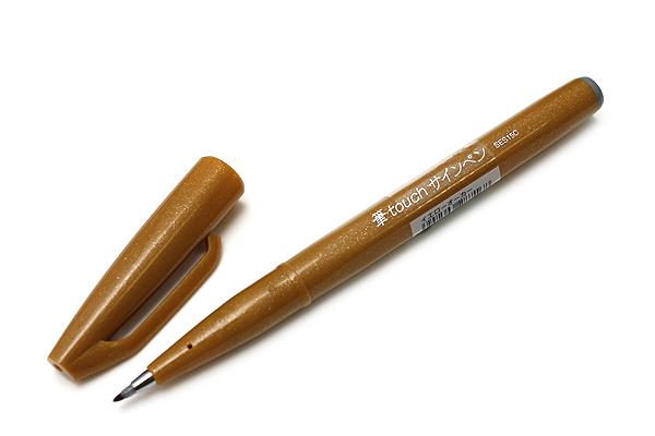 Pentel Fude Touch Sign Pen - Yellow Ochre - PENTEL SES15C-Y