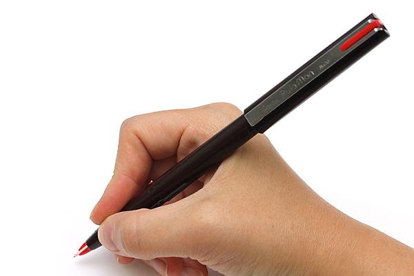 Pentel Pulaman JM20 Pen - Brown Body - Red Ink - PENTEL JM20-BD