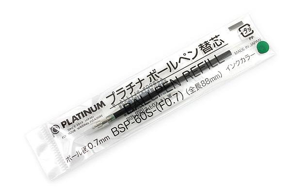 Platinum BSP-60S Ballpoint Pen Refill - 0.7 mm - Green - PLATINUM BSP-60S-(F0.7) 4