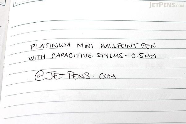Platinum Mini Ballpoint Pen with Capacitive Stylus - 0.5 mm - Shadow Metal Body - Black Ink - PLATINUM BWT-SM98