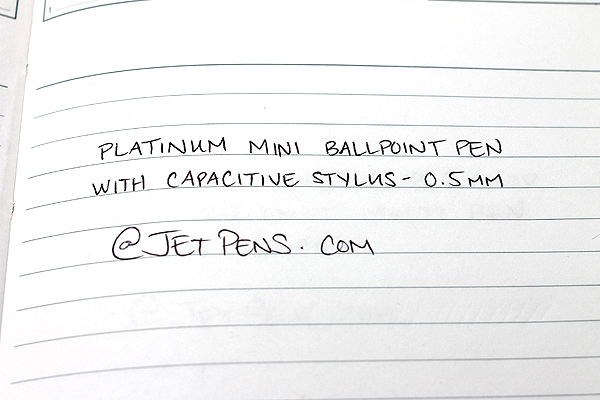 Platinum Mini Ballpoint Pen with Capacitive Stylus - 0.5 mm - Shadow Metal Body - Black Ink - PLATINUM BWT-SM98
