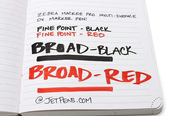 Zebra Mackee Pro Multi-Surface DX Marker Pen - Fine Point - Red - ZEBRA YYSS10-R