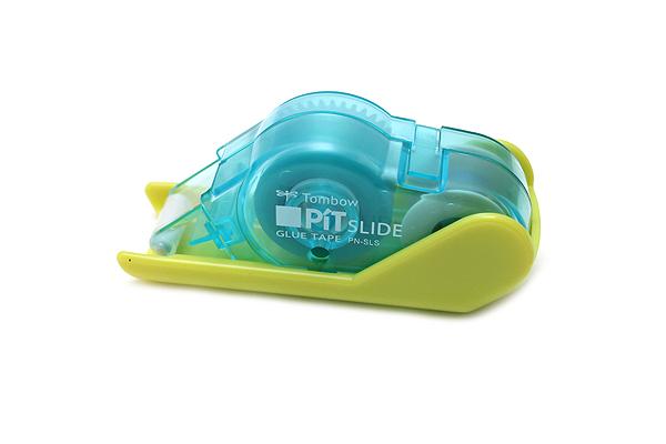 Tombow Pit Slide Adhesive Tape Roller - 8.4 mm X 8 m - Honey Lemon Green - TOMBOW PN-SLS47