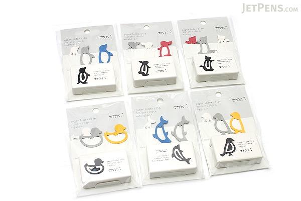 Midori Index Clip - Penguin - 3 Colors - Pack of 18 - MIDORI 43239-006
