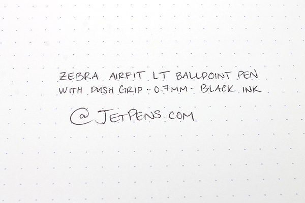Zebra Airfit LT Ballpoint Pen - 0.7 mm - Pearl Black Body - Black Ink - ZEBRA BA61-PBK