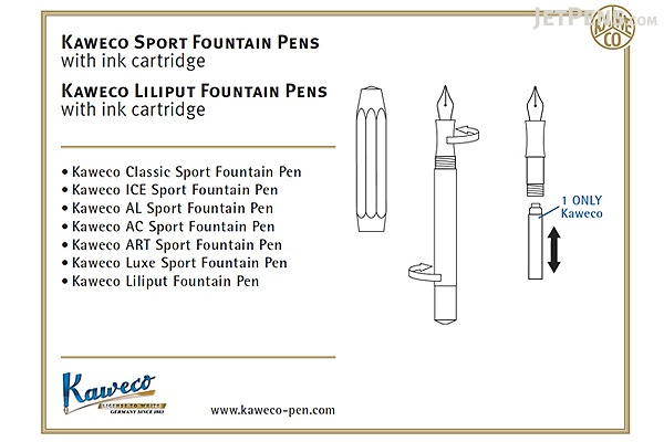 Kaweco Classic Sport Fountain Pen - White - Broad Nib - KAWECO 10000015