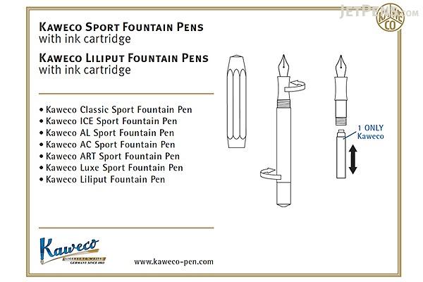 Kaweco Liliput Fountain Pen - Fine Nib - Brass Body - KAWECO 10000691