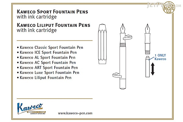 Kaweco AL Sport Fountain Pen - Gray - Extra Fine Nib - KAWECO 10000427