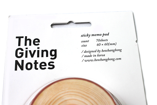 The Giving Notes Adhesive Memo Notes - Brown - 60 mm X 60 mm - 70 Sheets - JETPENS TGN BROWN