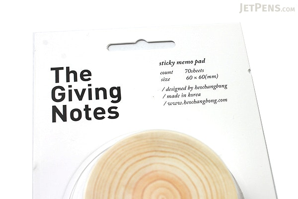 The Giving Notes Adhesive Memo Notes - White - 60 mm X 60 mm - 70 Sheets - JETPENS TGN WHITE
