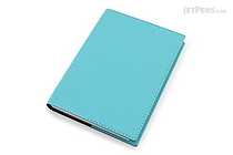 "Exacompta Club Leatherette Refillable Journal - Turquoise - 5"" X 7"" - 192 Sheets - Lined/Undated - EXACOMPTA 1818/17"