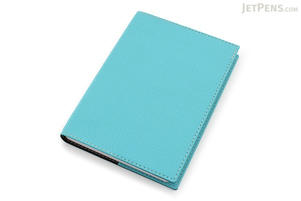 "Exacompta Club Leatherette Refillable Journal - Turquoise - 5"" X 7"" - 192 Sheets - Lined/Undated - EXACOMPTA 1818/17"