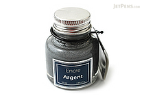 J. Herbin Silver Ink - Pigment - for Dip Pen - 30 ml Bottle - J. HERBIN H135/05