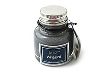 J. Herbin Dip Pen Pigmented Ink - 30 ml Bottle - Silver - J. HERBIN H135-05