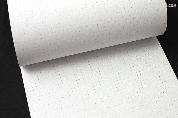 "Rhodia DotPad Notepad - Black - 8.25"" X 12.5"" - 80 Sheets - 5 mm Dot Grid - Bundle of 5 - RHODIA 19559 BUNDLE"
