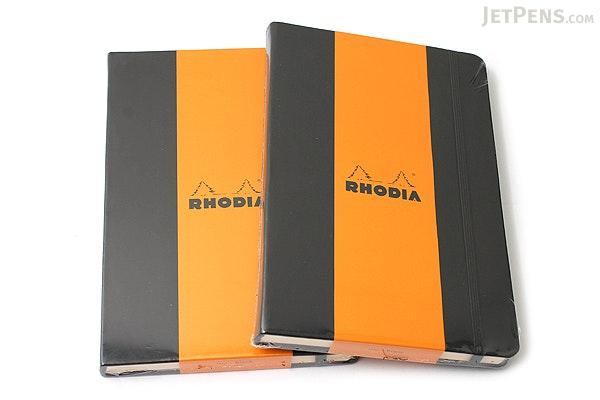 "Rhodia Webnotebook - 5.5"" x 8.25"" - Blank - Black - RHODIA 118669"