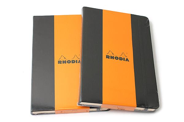 "Rhodia Webnotebook - 5.5"" X 8.25"" - 96 Sheets - Blank - Black - Bundle of 2 - RHODIA 118669 BUNDLE"
