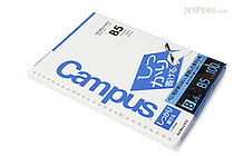 Kokuyo Campus Loose Leaf Paper - Shikkari - B5 - 6 mm Rule - 26 Holes - 100 Sheets - KOKUYO NO-S836B