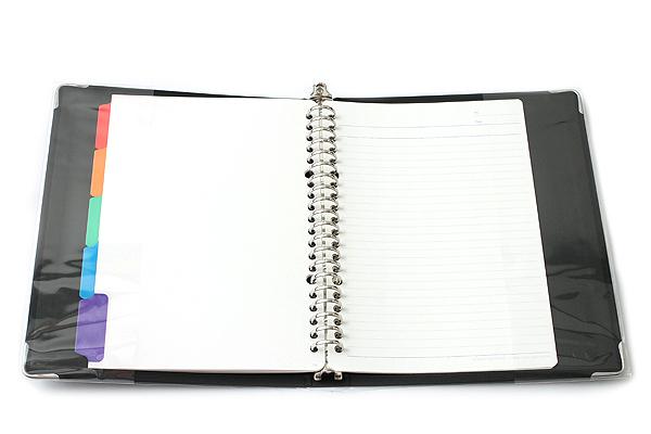 Kokuyo Color Palette Binder - A5 - 20 Rings - Black - Bundle of 5 - KOKUYO RU-105-1Z BUNDLE